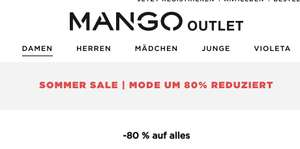Mango Outlet: Sommersale ab 2,99€ (-80%)