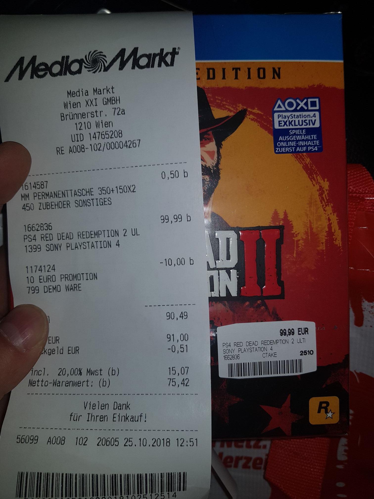 Red Dead Redemption 2 Ultimate schon heute und nur 89.99