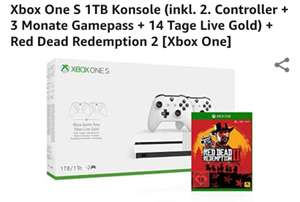 XBOX ONE S + 2 Controller + RDR2 + 3 Monate Gamepass