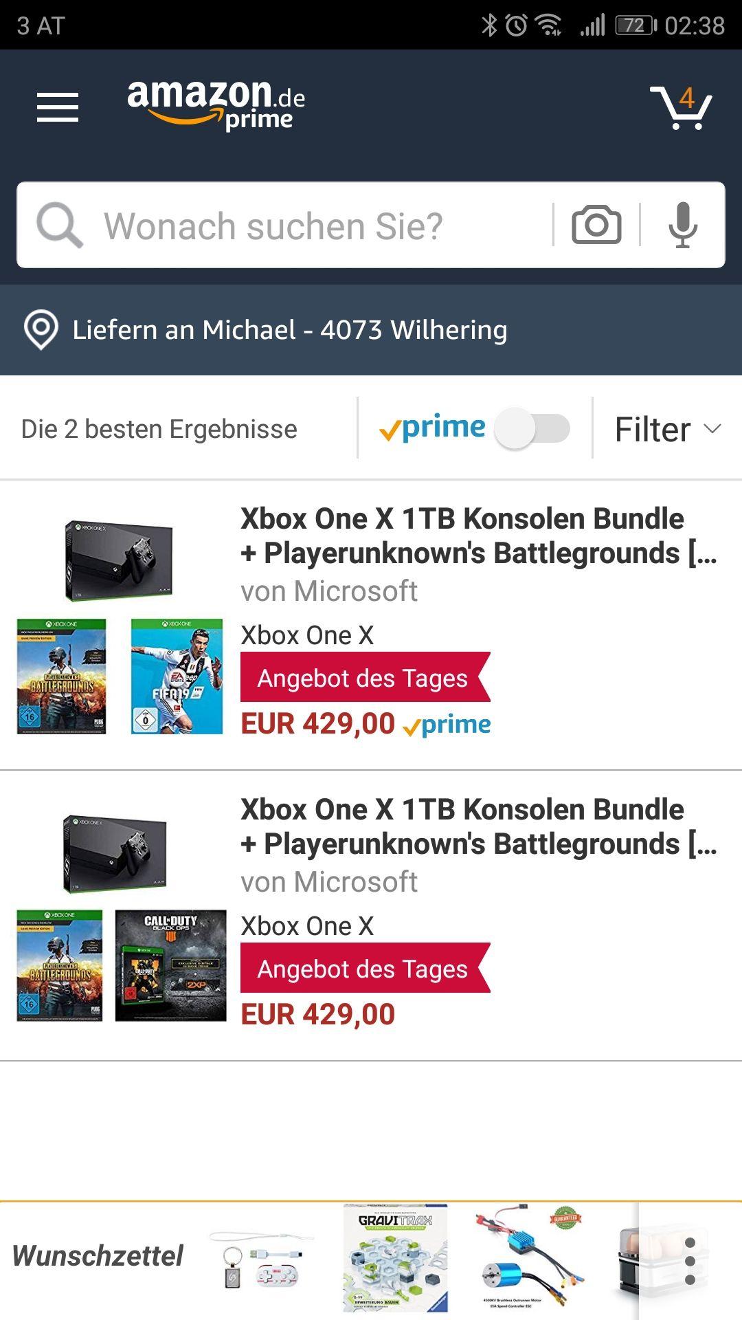 Xbox One X ink. Pubg und Fifa19 oder Pubg und Cod 4 Tagesgültig !