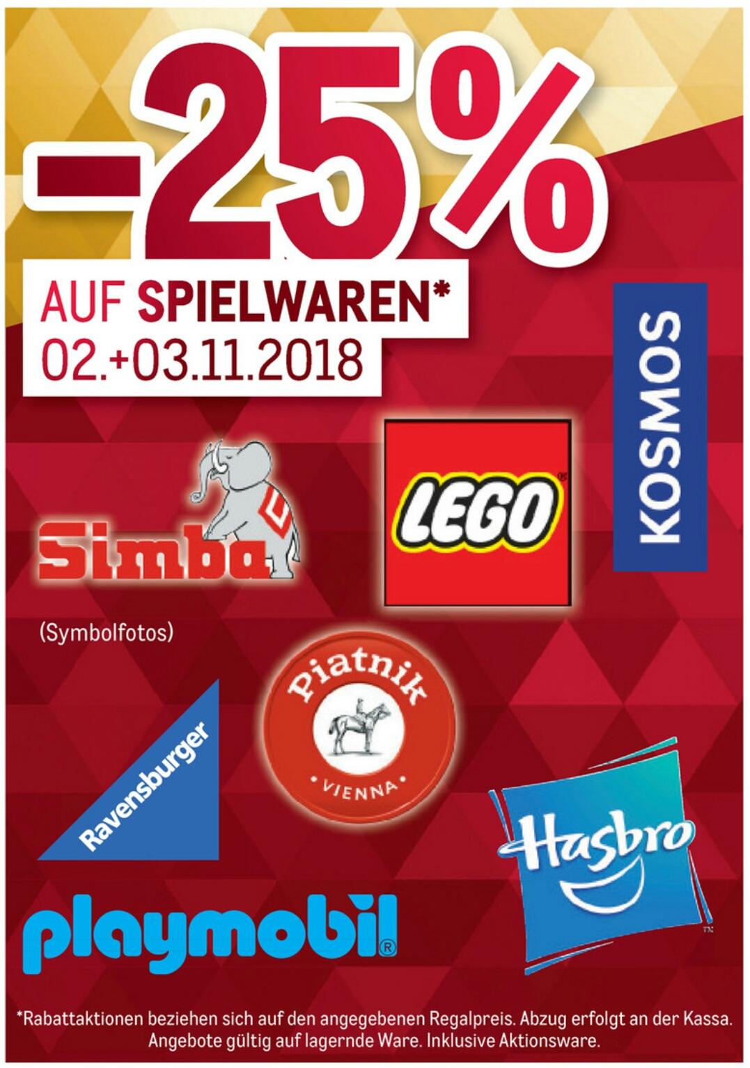 [Metro] -25% auf Spielwaren (Lego, Playmobil, usw.)  Angebotsübersicht &  25% auf Weihnachtsdeko