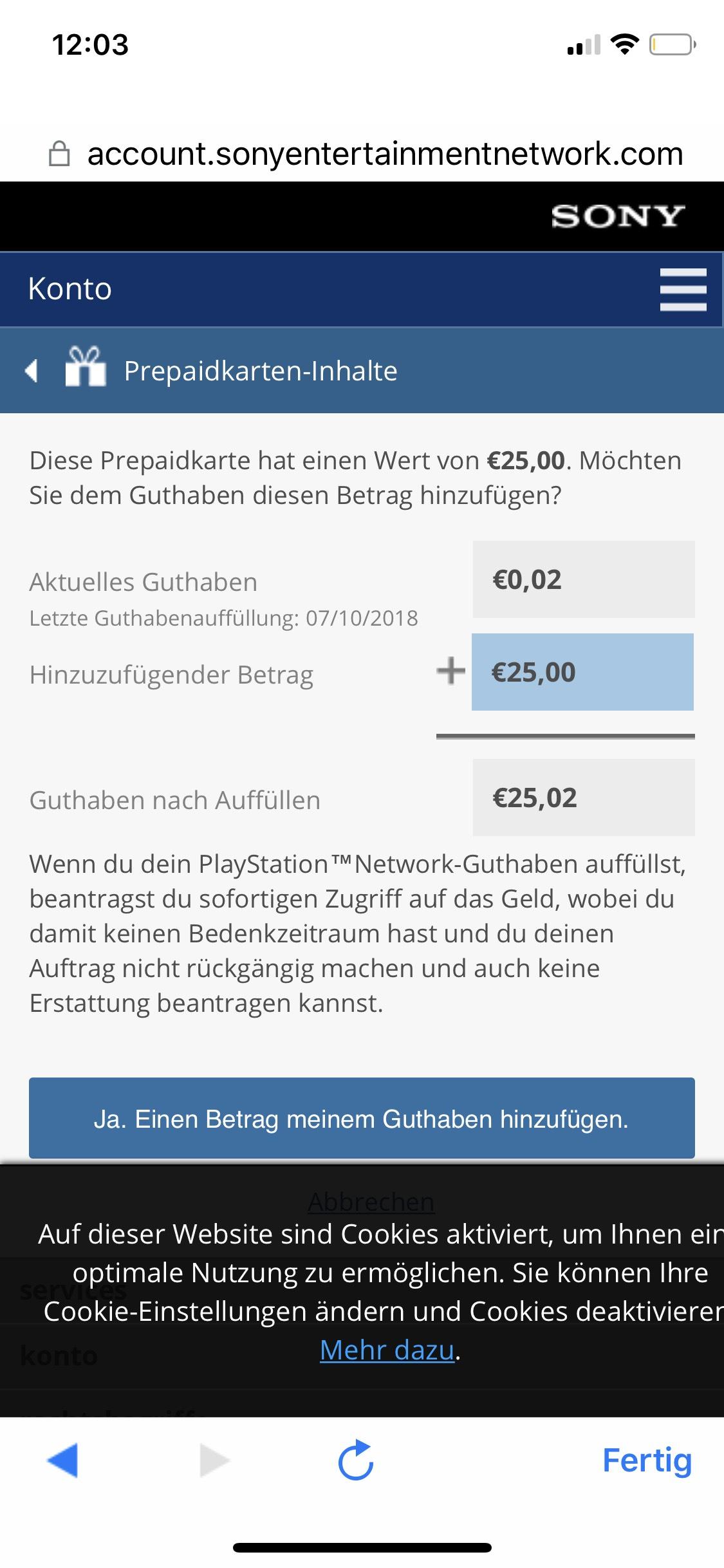 Amazon: PSN Guthaben Preisfehler - 25€ Guthaben für 15€