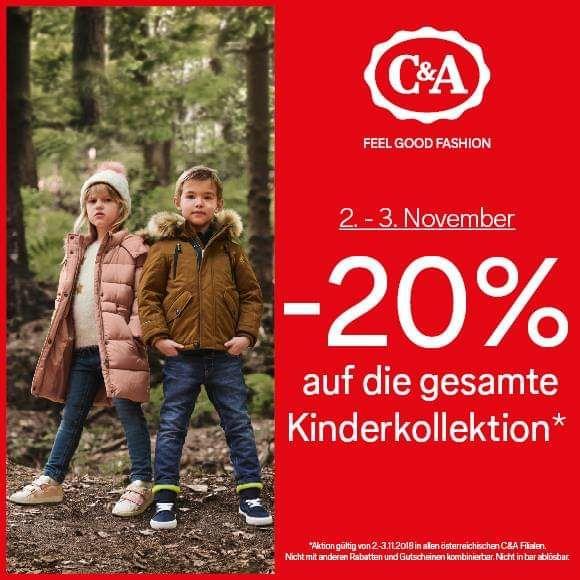 C&A: -20% auf Kinderkollektion