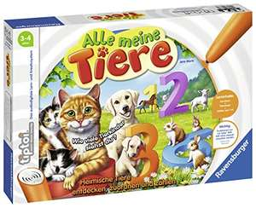 [Amazon] Ravensburger tiptoi Spiel: Alle meine Tiere für 13,11 € // Ravensburger tiptoi Spielfigur: Tier-Set Golden Retriever für 9,98 €
