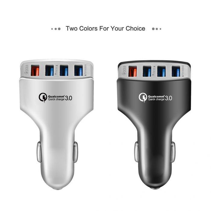 KFZ USB Ladegerät QC 3.0 - 4 USB Ports 7A Fast Charging für 1,75€