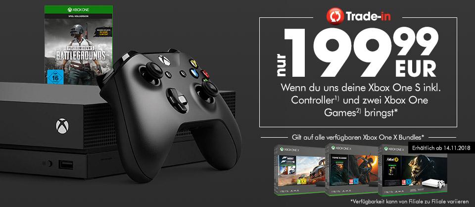 GameStop: div. Xbox One X Bundles für 199,99€bei Abgabe einer Xbox One S + Controller + 2 Spiele