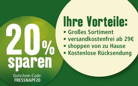Fressnapf Online: -20% auf die Bestellung