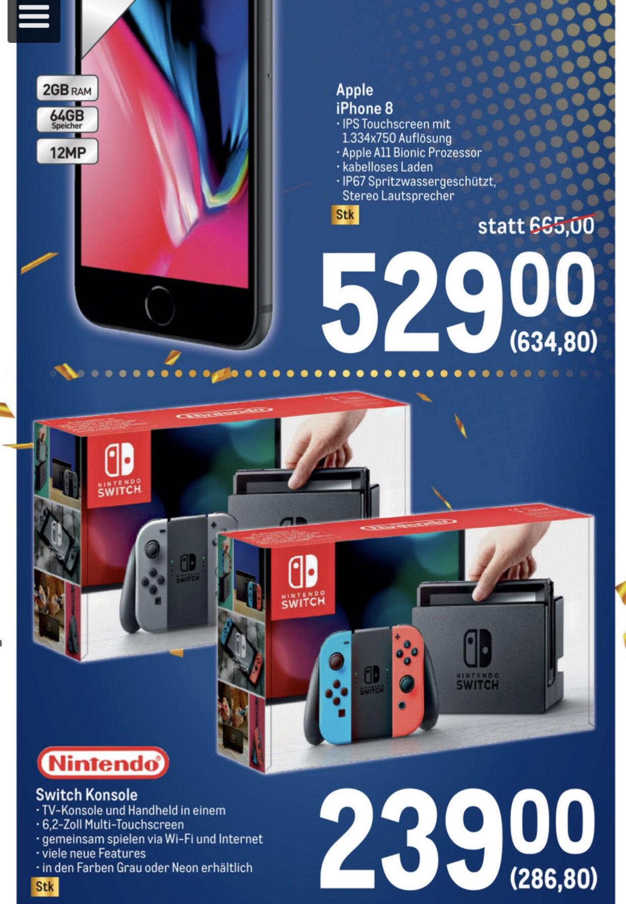 [Metro Jubiläum] Nintendo Switch in Grau/Blau-Rot