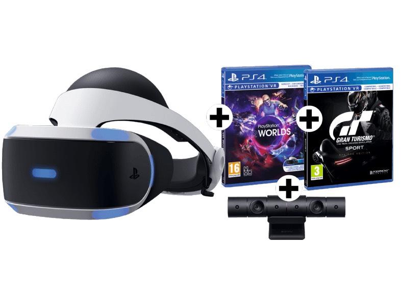 SONY PS4 VR-Brille + Camera + VR Worlds + Gran Turismo Sport