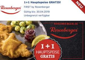 Gutschein.at: 1+1 Hauptspeise FIRST by Rosenberger