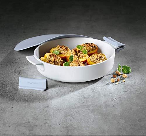www.AMAZON.de l Preisjäger-Kochprofi l Villeroy & Boch Clever Cooking Rundes Backform-Set, 4-teilig, 24 cm, Premium Porzellan/Silikon weiß