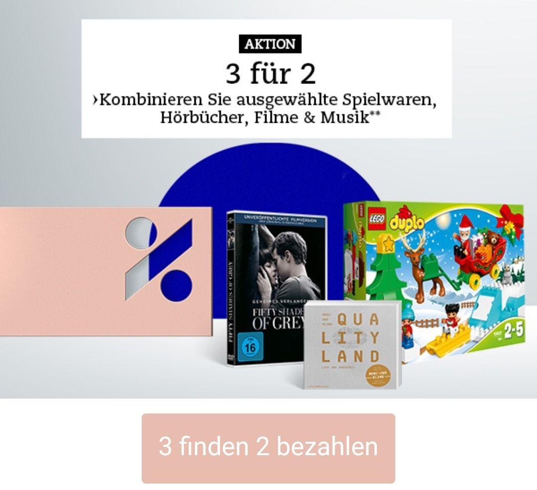 Thalia.at Aktion 3 für 2 (Musik, Film, Spielwaren)