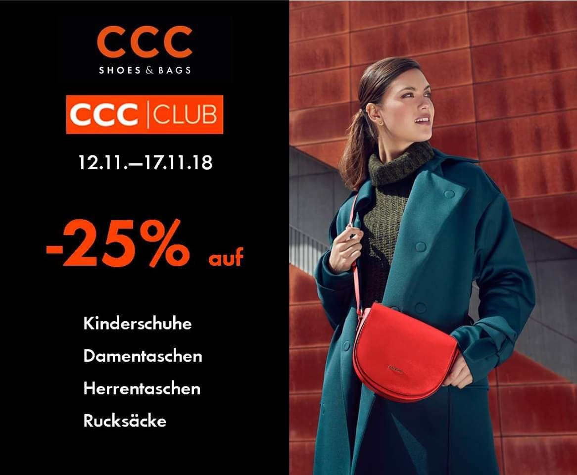 CCC: -25% auf Kinderschuhe, Taschen und Rucksäcke
