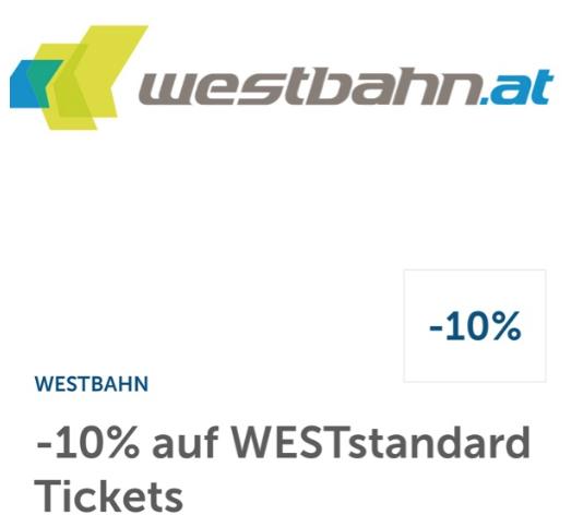 10% Sofort Rabatt auf Westbahn Tickets