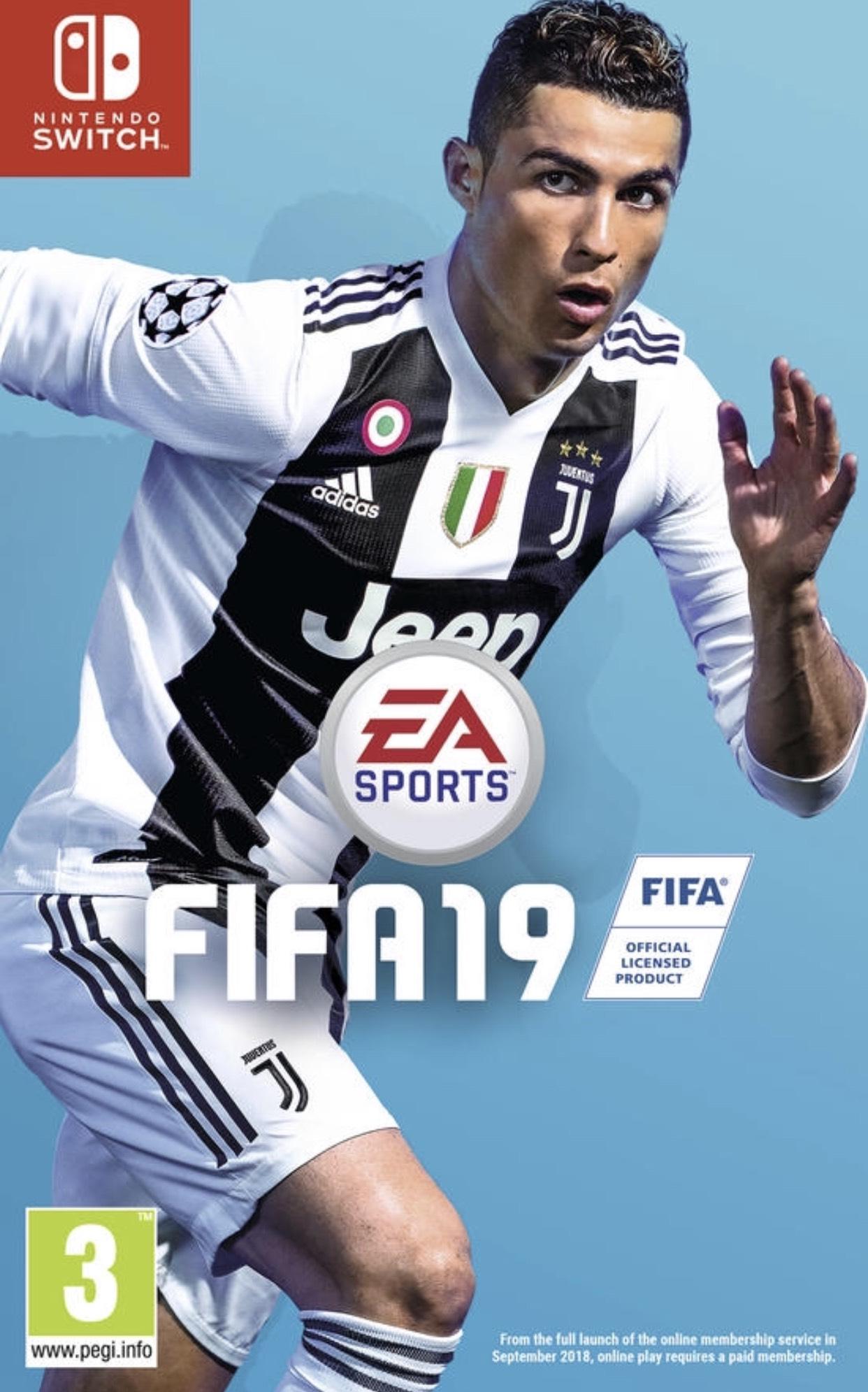 Fifa 19 für Switch oder als Pc Downloadcode für 29,99€, PS4& Xbox One für 39,99€