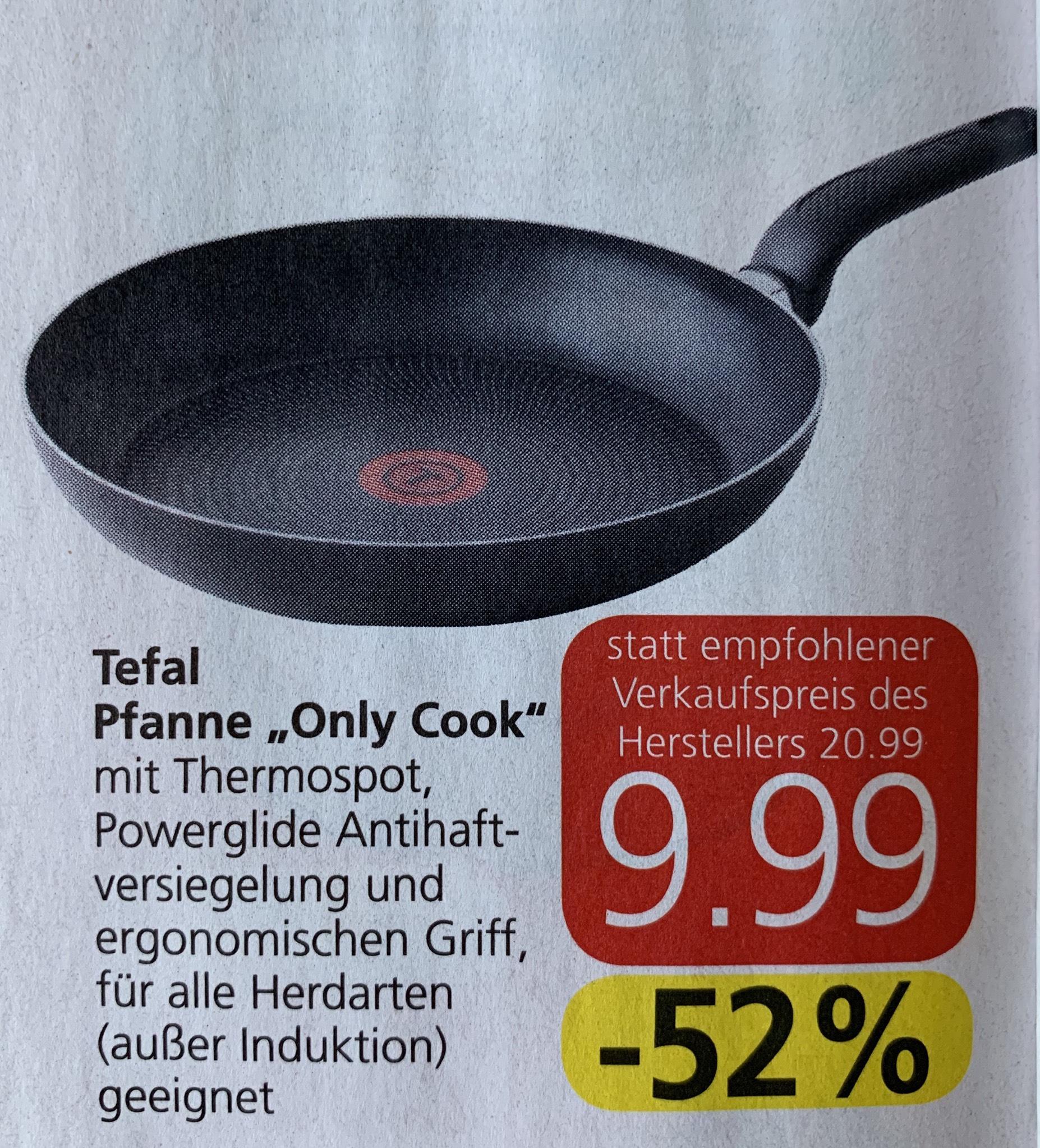 "Tefal Pfanne ""Only Cook"" - 28cm bei Spar um 9,99€"