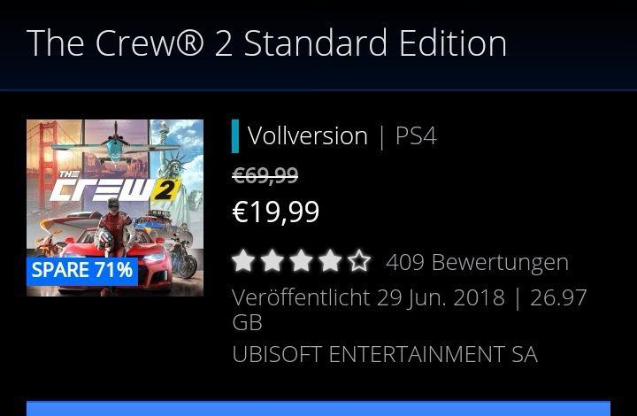The Crew 2 für PS4 im Ps Store