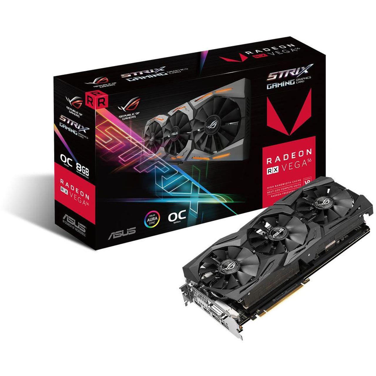 [Mindfactory+Logoix] 8GB Asus Radeon RX Vega 56 ROG Strix OC Aktiv PCIe 3.0 x16 + 3 Games