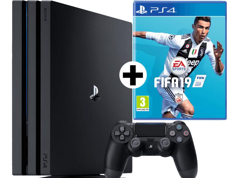 Sony PlayStation 4 Pro - 1TB FIFA 19 Bundle schwarz (9745112) für 349€