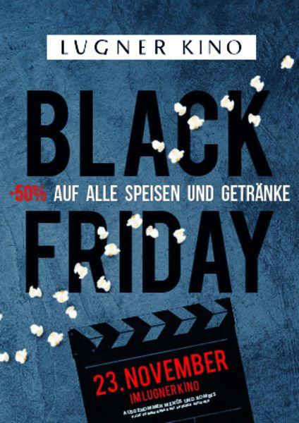 Black Friday im Lugner Kino: -50 % auf Speisen und Getränke