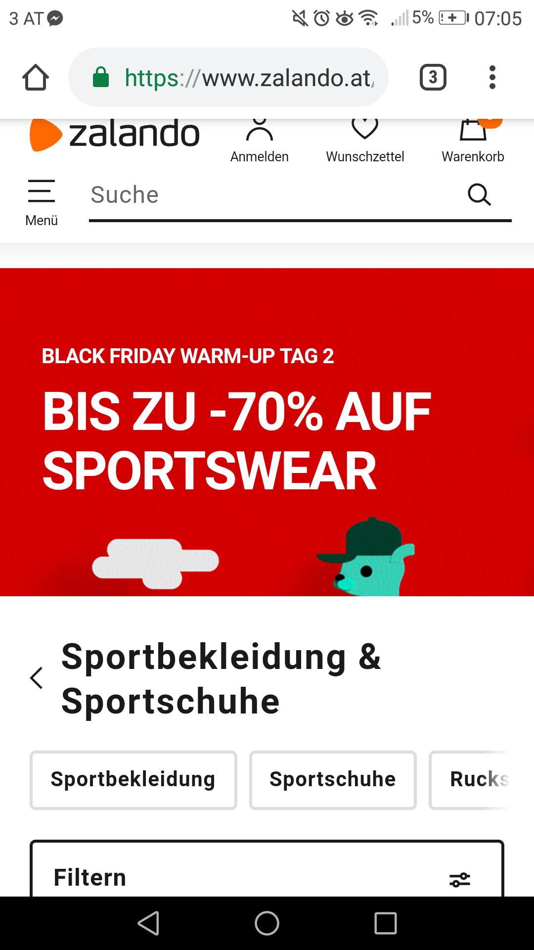 TAG2: Zalando.at -70% auf Sportwear