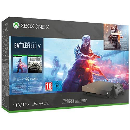 Amazon.es. Xbox One X - Battlefield V Gold Rush Special Edition, um 404,21€