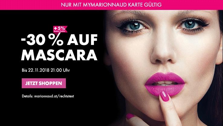 Marionnaud : 30% Rabatt auf Mascara