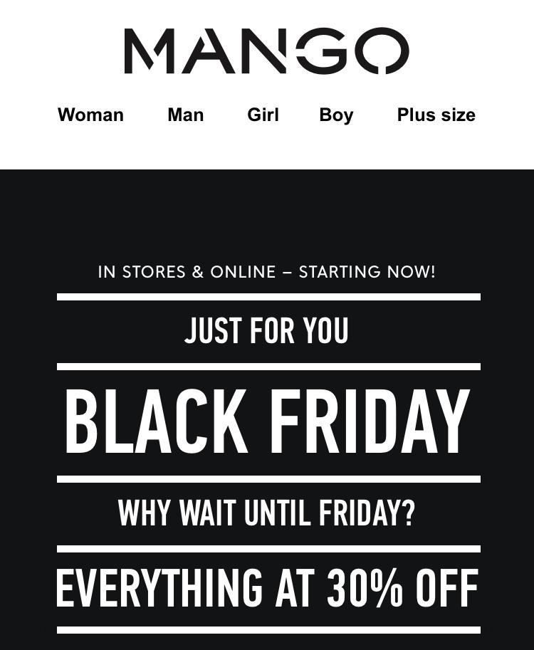 MANGO BLACK FRIDAY -30%
