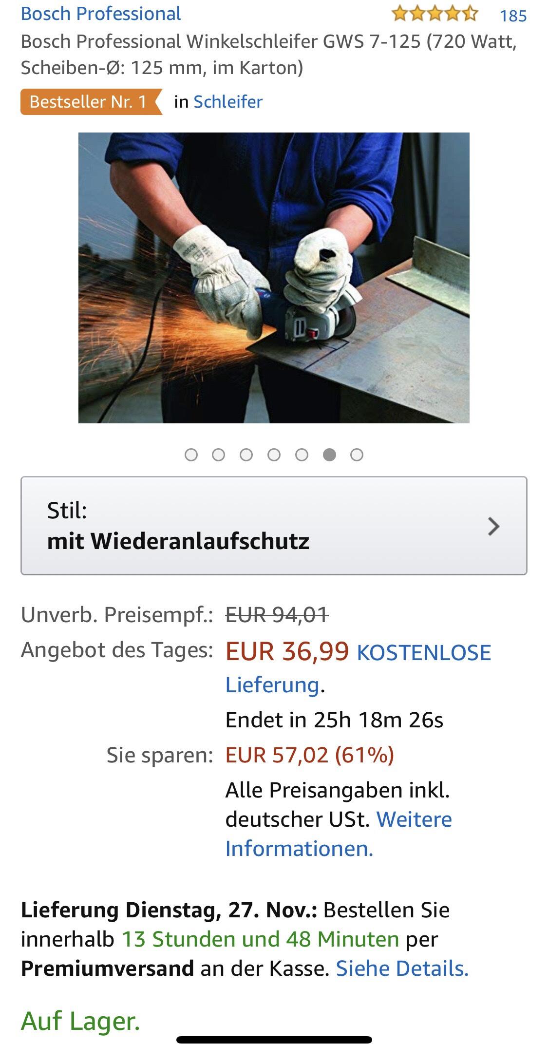 "Bosch Professional Winkelschleifer ""Flex"""