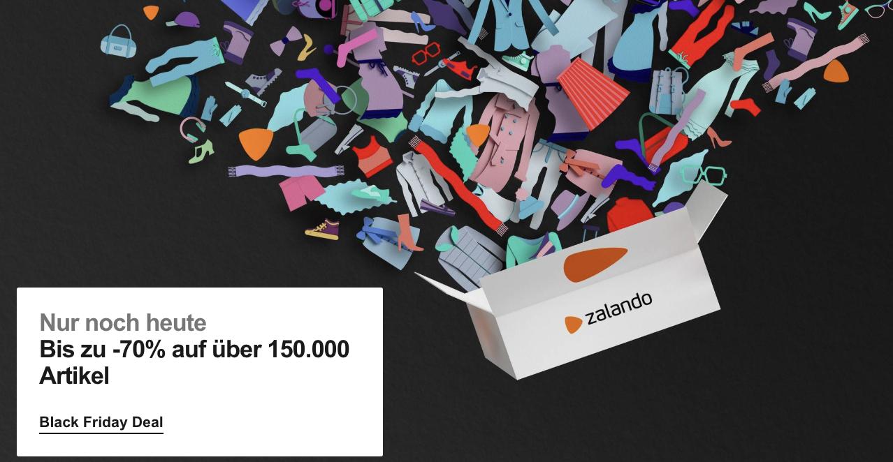 Zalando: bis zu 70% auf über 150.000 Artikel