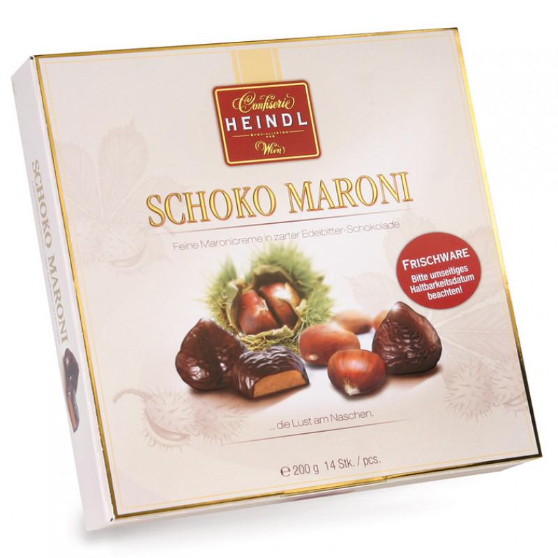 Billa: Abverkauf Heindl Schoko Maroni 200 g mit MHD 24.11. + 25% Rabatt auf Süßwaren