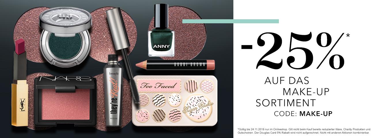 -25% auf das Make-Up Sortiment heute im Douglas.at Onlineshop
