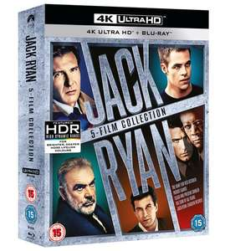 Jack Ryan 4K Bluray Collection, 5 Filme (UK Import mit deutscher Tonspur) und andere 4K Filme