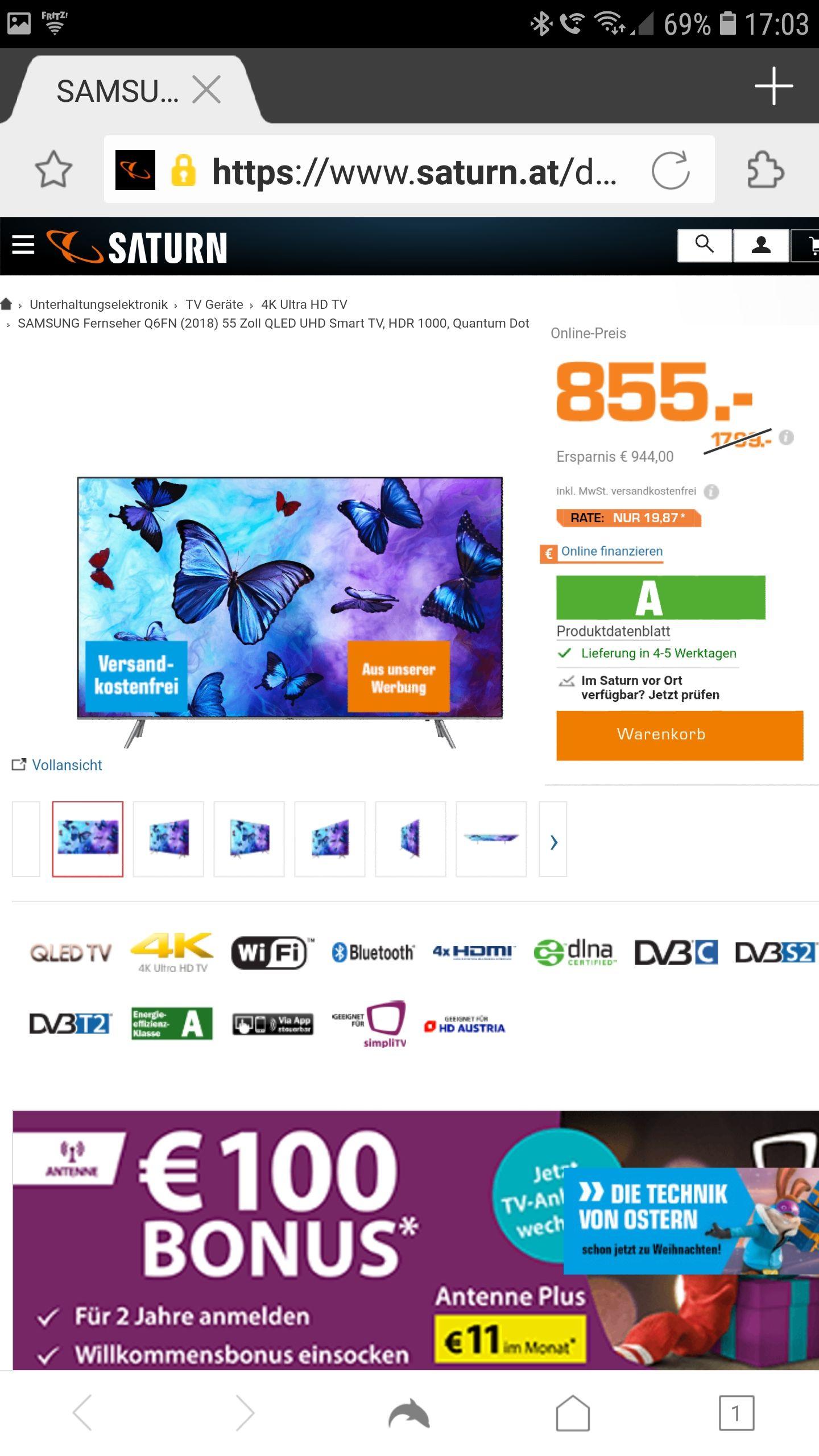 "Samsung QLED 55"" Q6FN Model"