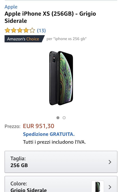 SCHNELL IPHONE XS 256GB um 941,46€