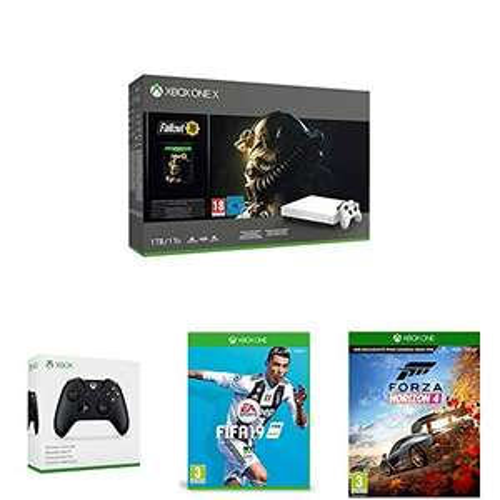 Amazon.fr: Xbox One X Fallout 76 Bundle + 2. Controller + Fifa 19 + Forza Horizon 4 + Gears of War 4 um 413,03€