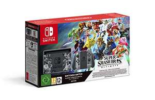 Nintendo Switch - Super Smash Bros. Ultimate Bundle schwarz/grau