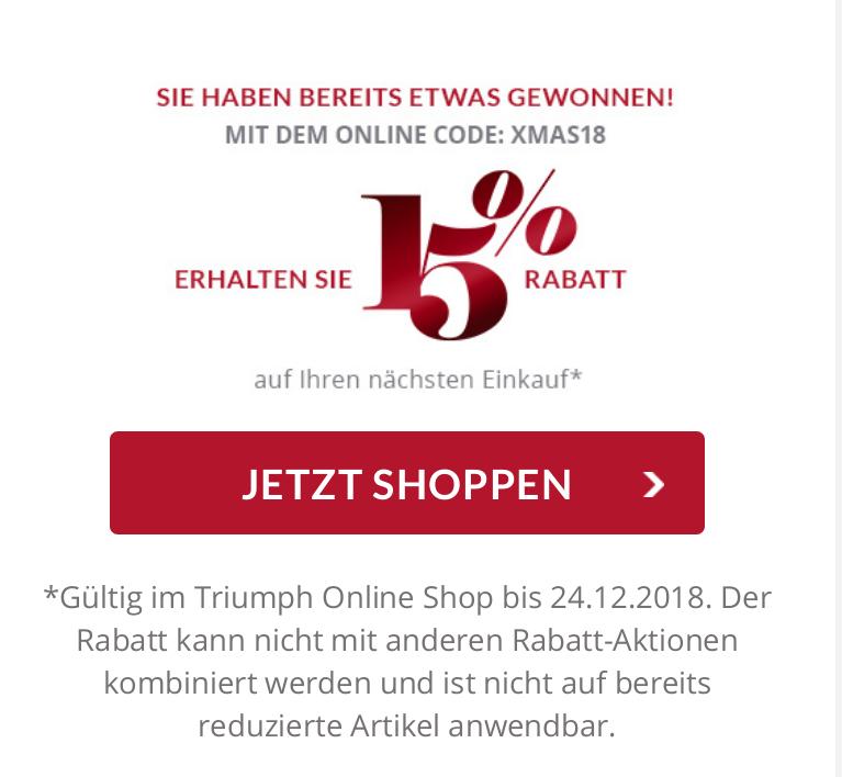 [Triumph] 15% Rabatt