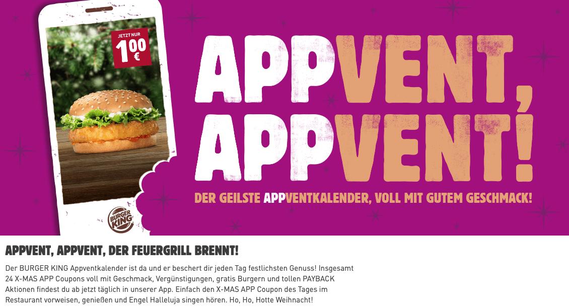 Burger King App-Adventskalender