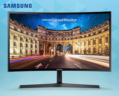 """[Hofer] Samsung LC24F396FHUXEN - 24"""" Curved Monitor - für 119 Euro"""
