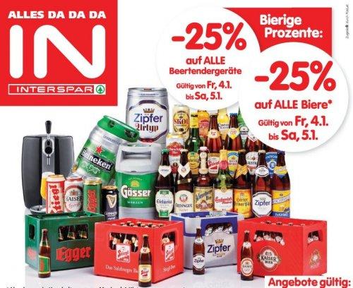 INTERSPAR Bieraktion - 25% auf alle Biere