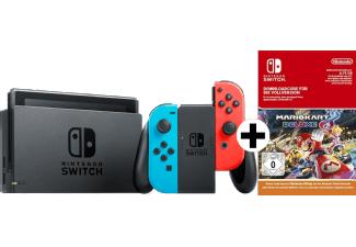 Nintendo Switch Neonrot/blau inklusive Mario Kart 8 Deluxe (download Code) MM & Saturn Österreich