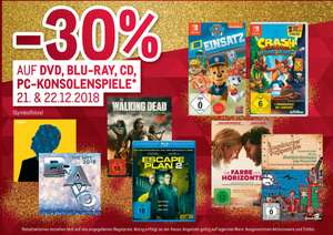 [METRO] -30% DVD, Blu-ray, CD, PC Konsolenspiele inkl. Switch Games