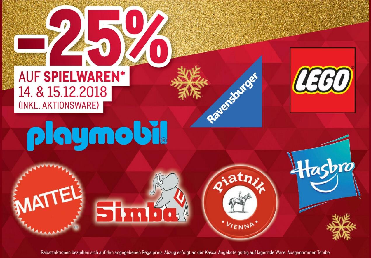 [METRO] -25% auf Spielwaren z.B. Lego, Weihnachtsdeko, Weihnachtsbeleuchtung (inkl. Aktionsware)