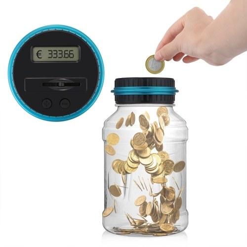 Automatisierte Münzzählung mit LCD-Bildschirm - Sparen Sie für EURO