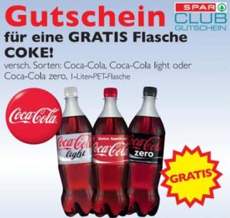 SPAR Gutscheine zum Ausdrucken! Gratis Coca Cola 1L *Update* Jetzt bei Zielpunkt
