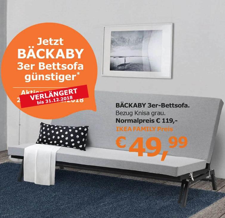 """IKEA """"Bäckaby"""" 3er Sofa"""