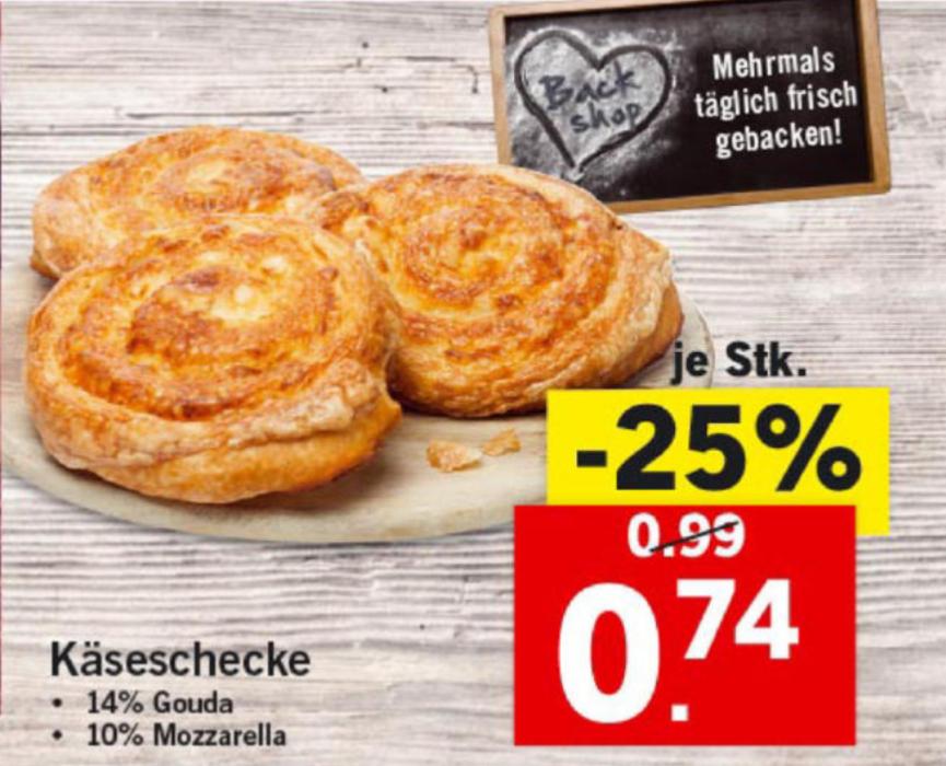 Lidl Käseschecken im Angebot!