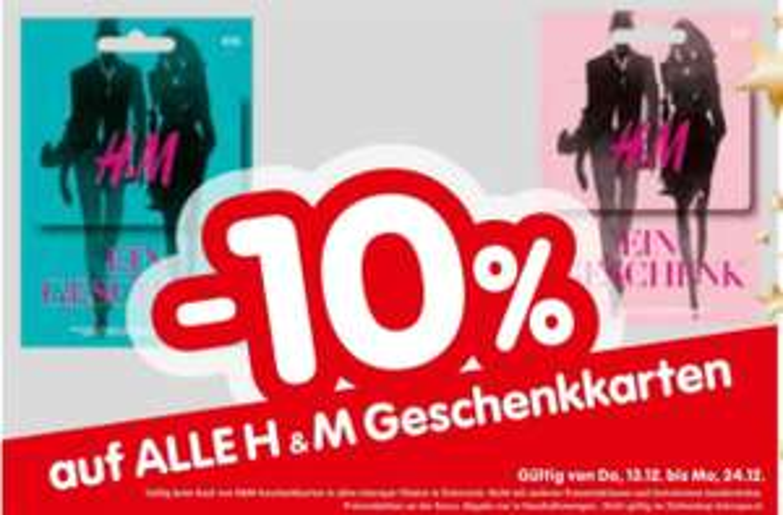[Interspar] -10% auf alle H&M Gutscheinkarten