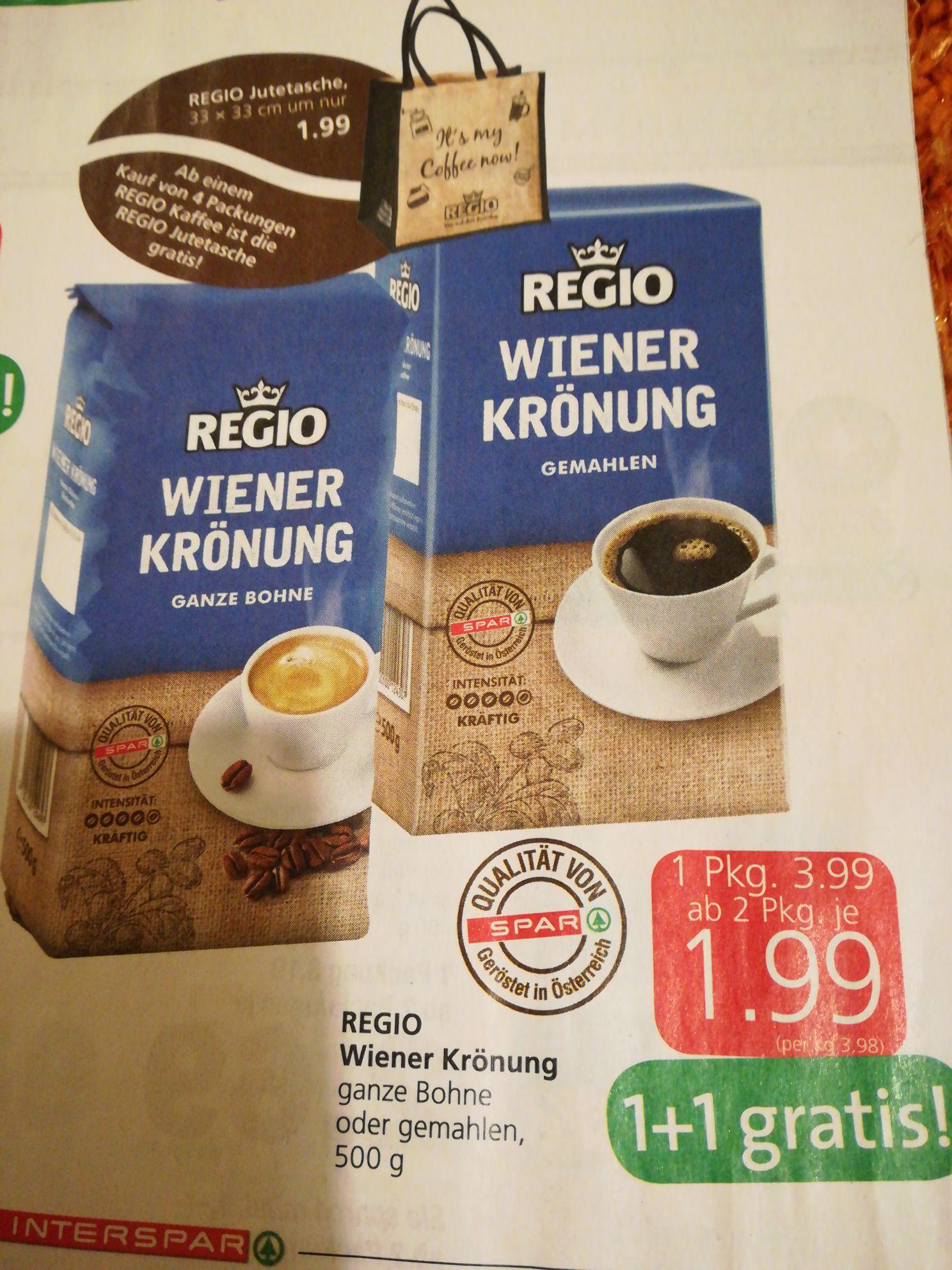 Regio Kaffee plus gratis Beigabe